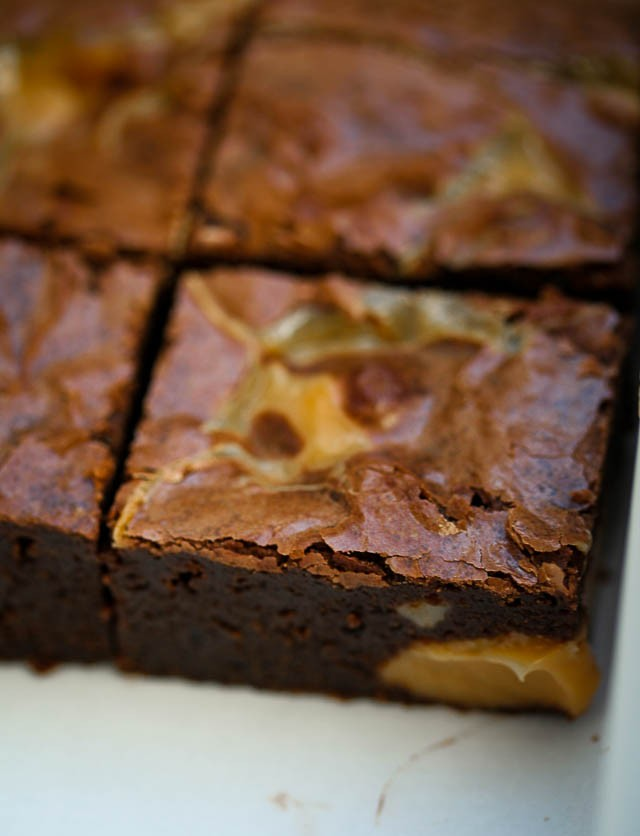 Dulce de Leche Brownie Recipe - David Lebovitz