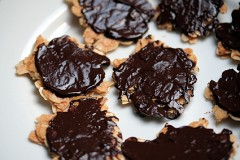 chocolate dipped florentine cookie recipe