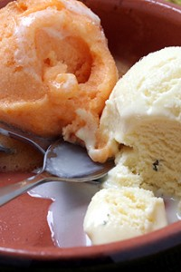 lemon verbena ice cream