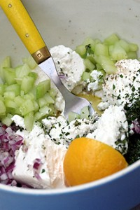 Joanne Weir's Cucumber and Feta Salad Recipe