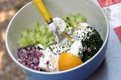 Joanne Weir's Cucumber and Feta Salad Recipe - David Lebovitz