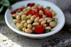 fresh shelling bean salad