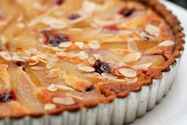French Pear almond tart recipe