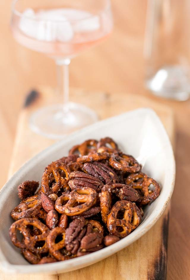Spiced Pretzel Nut Cocktail Mix recipe