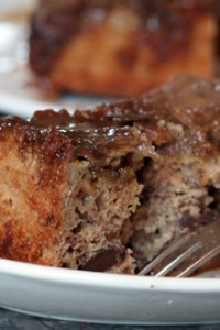 Banana Chocolate Chip Upside Down Cake