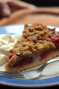 plum tart yeasted