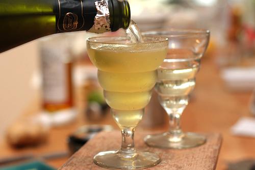 Pineapple-Ginger Sparkling Wine Cocktail - David Lebovitz