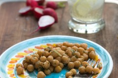 Chickpea, lemon, mint salad recipe