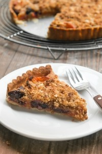 Apricot Cherry Marzipan tart recipe-9