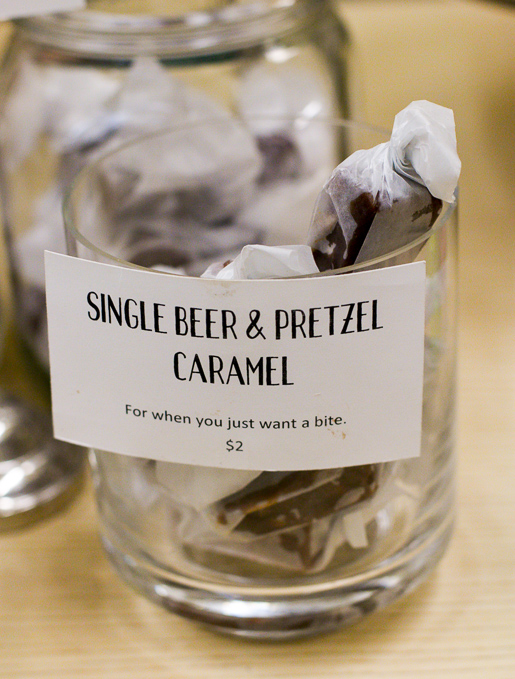 Beer and pretzel caramels at Liddabit Sweets New York City