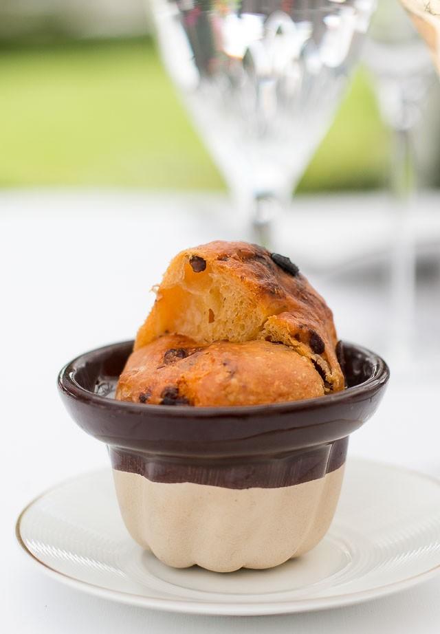 Kugelhof of olive and chorizo at Le Bristol Hotel, Paris