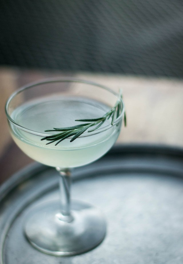 rosemary gimlet makes one cocktail rosemary adds a lovely resiny ...