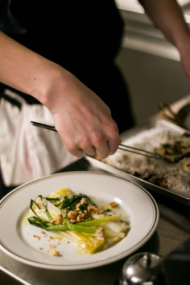Leek salad at La bourse et la vie paris bistro