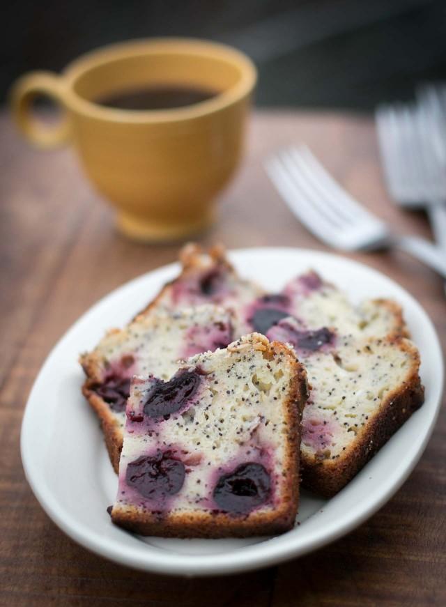 Cherry Yogurt Poppy Seed Cake recipe