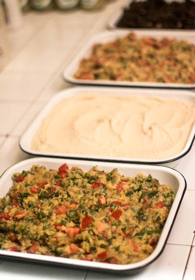 Lebanese salads