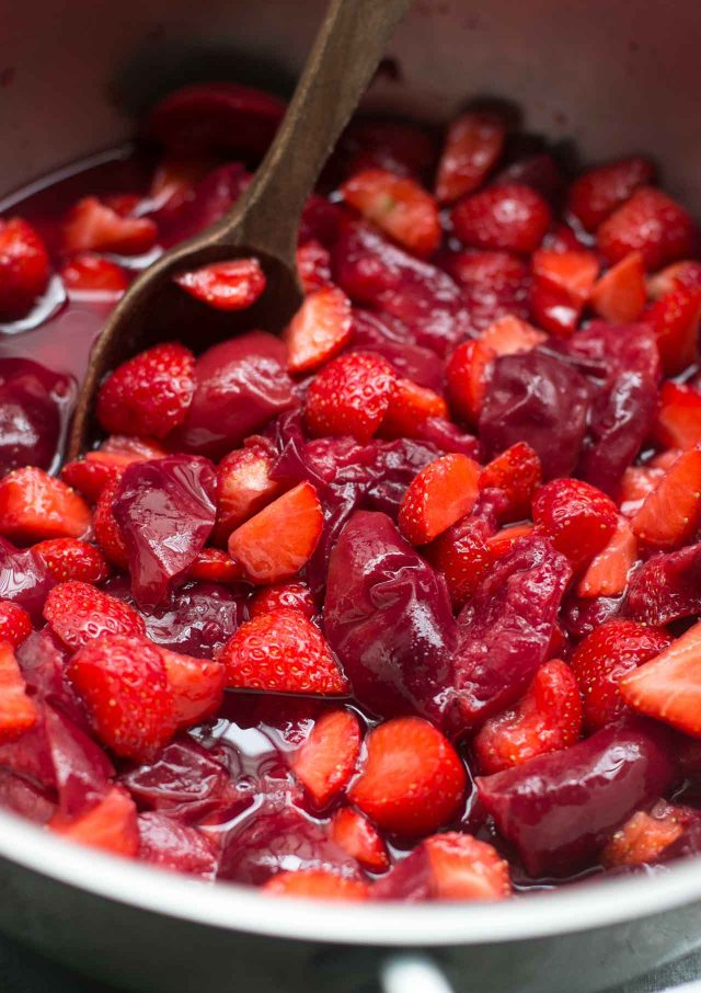 Plum Strawberry Jam recipe