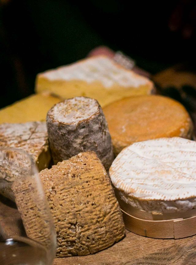French cheeses at Bistrot Paul Bert restaurant in Paris