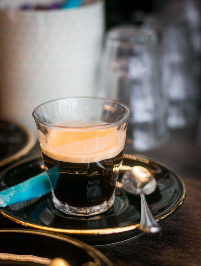 coffee at Merguez & Pastrami deli in Paris