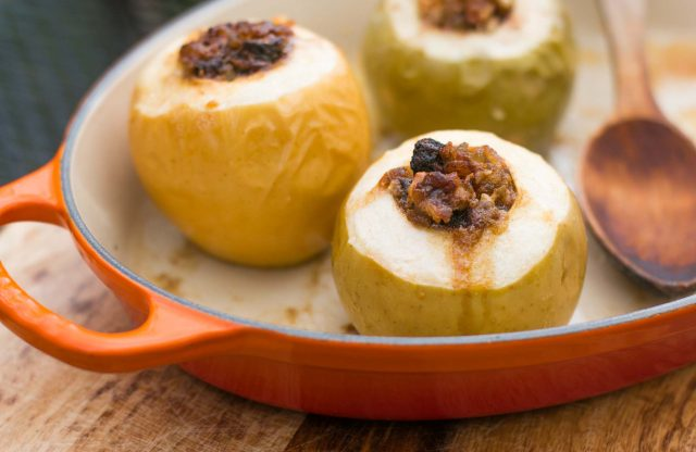 Baked apples with ginger recipe