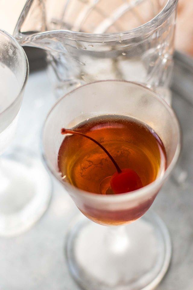 Black Manhattan Cocktail