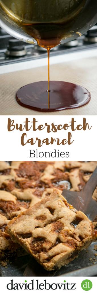 Butterscotch caramel blondies