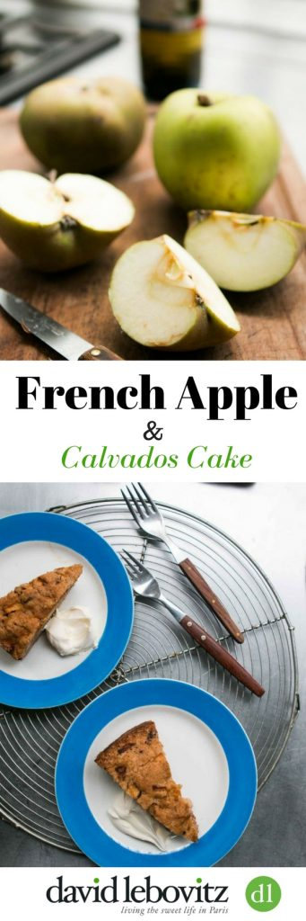 This generous Apple Cake recipe is flavored with apple brandy, and a touch of spice. It's a favorite fall and winter recipe!