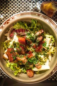 Frisee salad with bacon